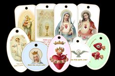 Free printable Catholic gift tags from HolyReflections.com