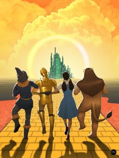 Wizard of Oz x Star Wars by Francisco Perez