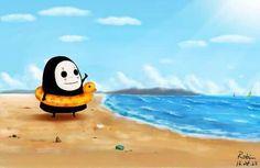 = ̄ω ̄= Fb: my love anime/manga. Studio Ghibli Art, Studio Ghibli Movies, Personajes Studio Ghibli, Kawaii Doodles, Pokemon, Howls Moving Castle, Spirited Away, My Neighbor Totoro, Cute Chibi