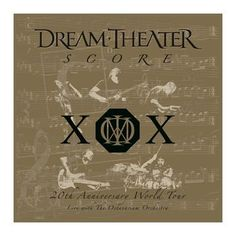 "L'album dei #DreamTheater intitolato ""Score: 20th Anniversary World Tour"" su vinile."