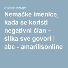 Nemačke imenice, kada se koristi negativni član – slika sve govori | abc - amarilisonline
