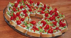 Christmas appetizer wreath (*Tried this using a ranch cream cheese mix instead with celery and diced red pepper for Christmas.  Very good - would make again.)