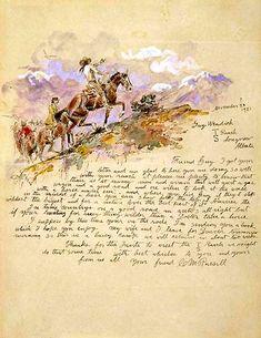 Lettre du peintre Charles Russell
