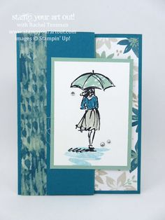 Stampin' Up! Beautiful You Off-Center Z-Fold Card & OnStage Make-n-Takes