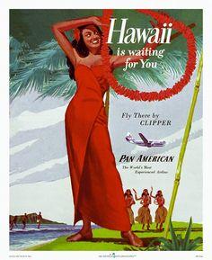 Hawaiian Days Collection™ of Vintage Prints (Standard Quality) - Metropix