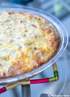 http://www.recipechart.com/recipes/breakfast-recipes/crustless-ham-n-cheese-quiche