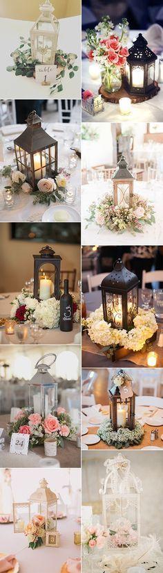 chic vintage wedding centerpiece ideas with lanterns
