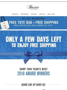 Milled has emails from Baxter Of California, including new arrivals, sales, discounts, and coupon codes. Beard Line, Captain Obvious, Baxter Of California, Mothers Day Special, Shave Gel, Email Newsletters, After Shave Balm, Happy Earth, Clams