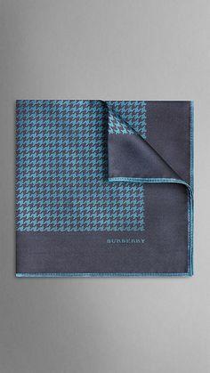 Houndstooth Silk Pocket Square | Burberry