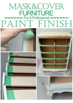 Salvaged Inspirations | Mask It Off! A Super Easy Quick-Tip that will keep your Painted Furniture looking Clean and Professional!