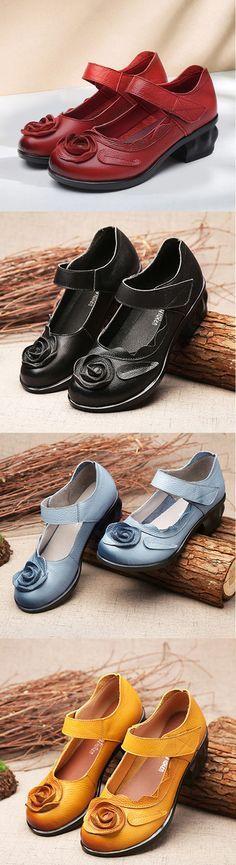 Heel Height: 4cm Platform Height: 1cm Color: Black, Red, Yellow, Blue#sandals