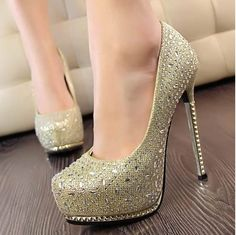 3ce86fb4ac324 Shipped From US Wotefusi Women Lady Gril New Glitter Bling Platform High  Thin Heels Highheel Shoes Sexy For Dating Club Wedding Party Anniversary  Bride ...