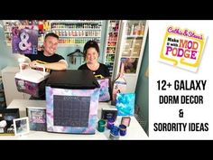 Turn your apartment or dorm into an out-of-this-world escape with these projects courtesy of Cathie & Steve! Diy Dorm Decor, Dorm Decorations, Diy Galaxy, Window Clings, Sorority Gifts, Hacks Diy, Craft Work, Learning, Cool Stuff