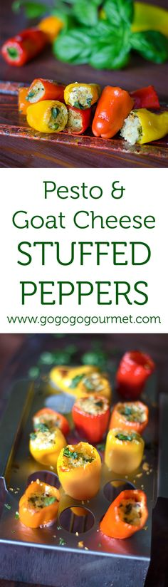 These vegetarian peppers are a snap to put together and are a universal crowd pleaser- perfect appetizer for your next party! | Go Go Go Gourmet @gogogogourmet