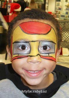 DIY Iron Man Face Paint #DIY #FacePainting #Halloween #Costumes #HalloweenCostume #Birthdays #Birthday #Party #Parties #SuperHero #SuperHeroes