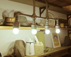 4 огни ретро стиле лофт водопровод промышленного подвесной светильник, для столовой кофе зал бар, E27 лампа включена, AC 90 В ~ 260 В купить на AliExpress