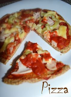 Pizza Dukan - RETETE DUKAN Pizza Dough, Healthy Recipes, Healthy Food, Vegetable Pizza, Low Calories, Vegetables, Ethnic Recipes, Women's Fashion, Fitness