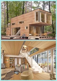 35 Awesome Genius Shipping Container Home Design Ideas Tiny House Design Awesome Container design Genius Home ideas Shipping Modern Tiny House, Tiny House Plans, Tiny House Design, Modern House Design, Building A Container Home, Storage Container Homes, Cargo Container Homes, Minimalist House Design, Minimalist Home