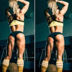 Fit body, toned legs, nice calves, strong glutes!