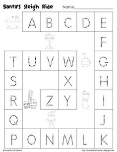 Worksheets Tracing Abc 1000 images about learning on pinterest letter tracing free christmas abc tracing