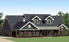 Elevation Front Plan W46231LA: Walk Ins For Every Bedroom