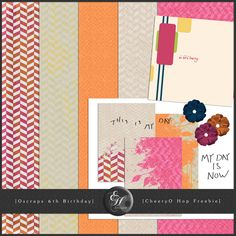 CheeryO tiny kit freebie from EH Studios #scrapbook #digiscrap #scrapbooking #digifree #scrap