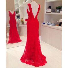 Vestido de encaje Lady Largo Noche Baile Baile de graduación Formal Dama de honor Cóctel Fiesta rojo