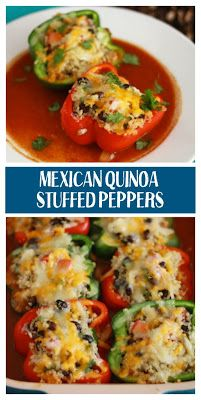 mexican stuffed peppers with quinoa and black beans  Vegetarian Food Inspiration mexican stuffed peppers with quinoa and black beans – INSPIRED RECIPE #mexicanfoodrecipes #stuffed #peppers #vegetarian