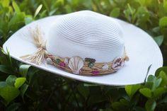 White Braided Hat - loggerhead
