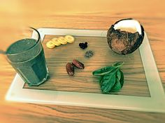 Spirulina Blueberry Coconut Green Smoothie!  - 1 Banana - 1 Cup of frozen blueberry - 1 Cup of organic/bio spinach - 1 Cup of organic/bio kale - 2 Deseeded dates - Fill in about 75% of the blender with coconut milk - 1 Spoon spirulina or barley grass powder - 1 Spoon chia seeds - 2 Cups of protein powder #greensmoothie #smoothie #recipe #smoothies