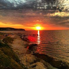 Amazing sunset in #izola #slovenia -