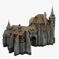 old medieval warehouse obj - Medieval Warehouse... by bemola