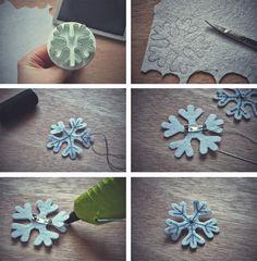 LaBlanche: Snehová vločka /brošňa/... DIY snowflake brooch