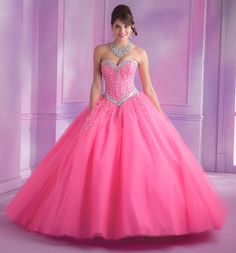 Mori Lee Vizcaya Quinceanera Dress Style 89012 is made for girls who want to look like a beautiful Princess on her Sweet 15 party. Made out of tulle, this ball gown features a strapless sweetheart nec