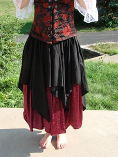 """Renaissance Medieval gypsy Pirate Fairy Petal Over Skirt 39/"""" Long PRE ORDER"""