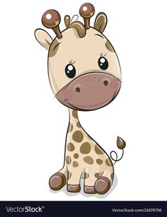 Cute Giraffe isolated on a white background. Cute Cartoon Giraffe isolated on a white background royalty free illustration Cartoon Giraffe, Cute Giraffe, Cute Cartoon, Baby Animal Drawings, Cartoon Drawings, Cute Drawings, Giraffe Illustration, Cute Illustration, Disney Cartoon Characters