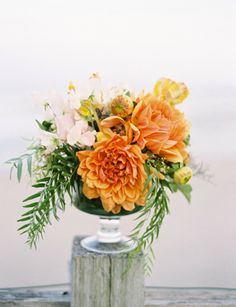 Small centerpieces by Beth Helmstetter