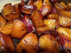 Gebackene Balsamico - Kartoffeln