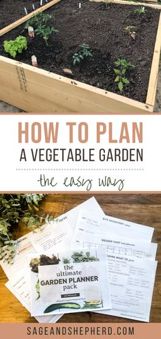 Learn how to plan a vegetable garden the easy way in 5 easy steps. I show you from start to finish how to plan your vegetable garden for optimal success! Starting A Vegetable Garden, Vegetable Garden For Beginners, Gardening For Beginners, Gardening Tips, Plan A, How To Plan, Raised Garden Beds, Things To Do, Success