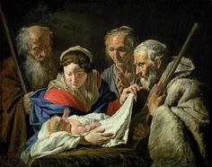 Anna and Simeon--Anna remained in the temple, fasting and praying and worshiping God for the sight of the Messiah.