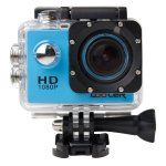 KIPTOP 12MP HD 1080P Wide-Angle Lens Blue Underwater Waterproof Camera Sports Action Bicycle Helmet Recorder  Free Stands/Mounts/Casing. Sold by COOLER and Fulfilled by Amazon for 33.99