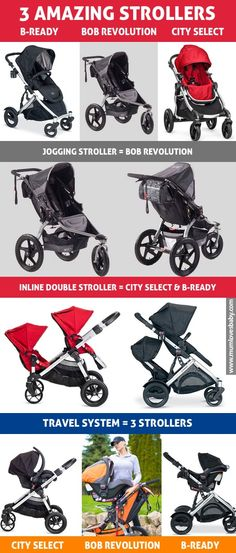 Top rated baby strollers worth taking a look: Bob Revolution, Britax B-Ready and Baby Jogger City Select