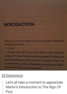 I'm dying, I love Martin Freeman so much! Ben's intro to 'Hounds' was great, too.