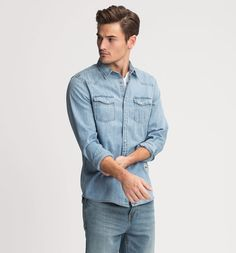 Jeans shirt Regular Fit in jeans-lightblue
