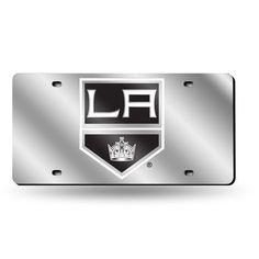 Los Angeles Kings Laser Cut License Plate - Silver Mirror