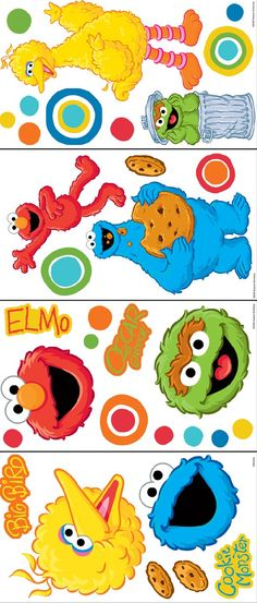 Sesame Street Big Dot Room Appliques - Wall Sticker Outlet