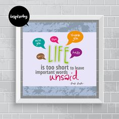 Inspirational Printable Wall Art Quote Print by inspireday on Etsy