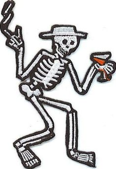 Social Distortion Skeleton  Patch Iron/sew ON