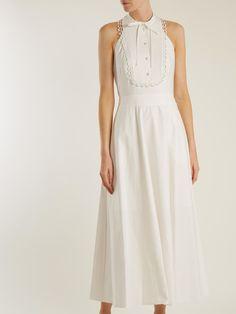 Fountain halterneck cotton midi dress | Temperley London | MATCHESFASHION.COM
