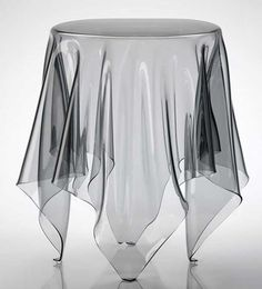 Table d'appoint en polycarbonate transparent design PALADIA